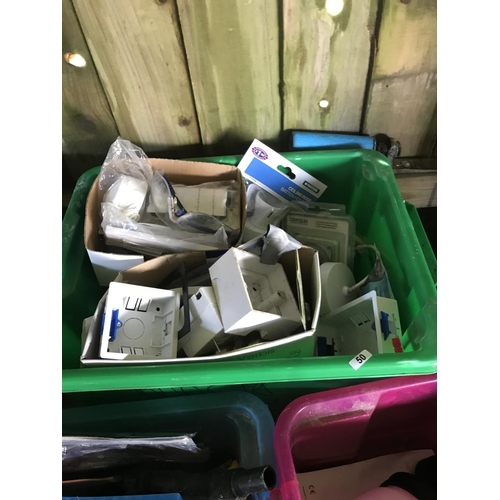 50 - Large box of assorted electrical items...