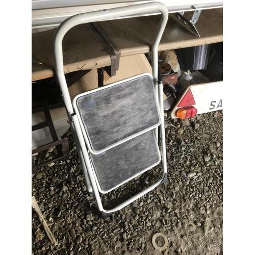 54 - Two tread folding step ladder...