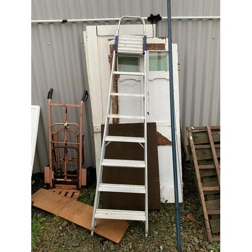 1 - Large metal step ladder...
