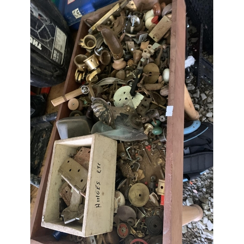 110 - Large drawer of handles & knobs...