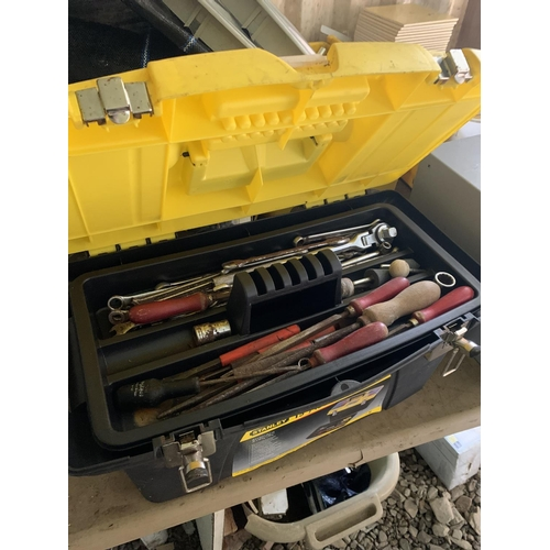 120 - Stanley tool box & contents...