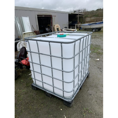 125 - 1000 ltr IBC water container...