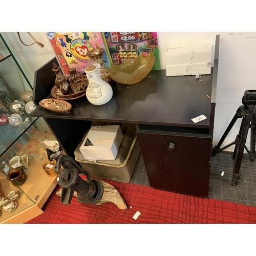 130 - Black computer table...