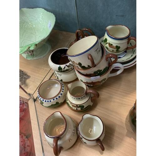 141 - Large quantity of Torquay ware...