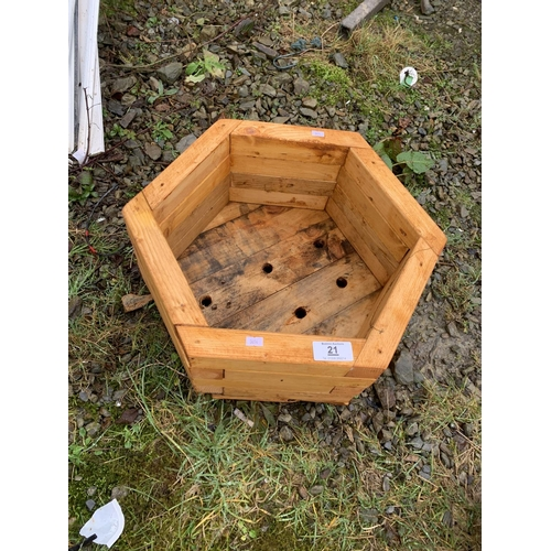 21 - Single wooden planter...