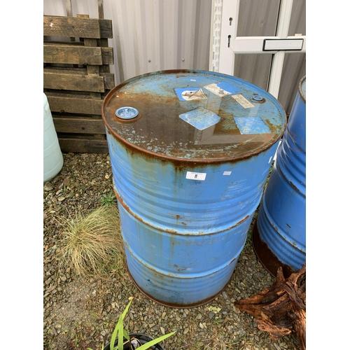 8 - Large oil drum...