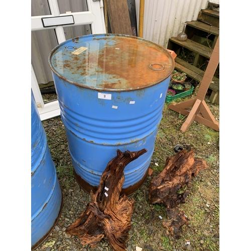 9 - Large oil drum...