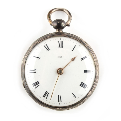 12 - Property of a deceased estate - a William IV silver cased pocket watch, the key wind movement with s...