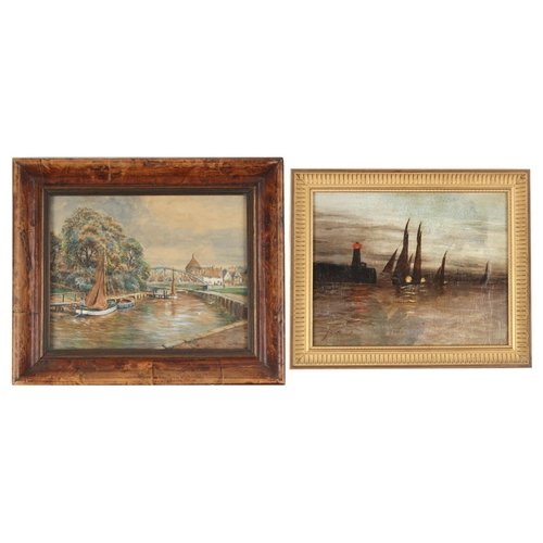 117 - Property of a lady - an early 20th century watercolour depicting a Norfolk river scene, in glazed fr...
