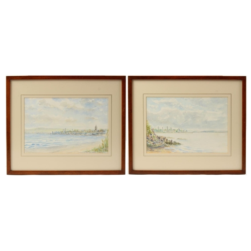 123 - Property of a lady - P. Polson (20th century) - VIEWS OF ST. ANDREWS, SCOTLAND - watercolours, a pai...