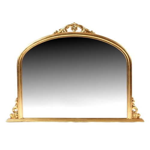 160 - Property of a lady - a Laura Ashley Victorian style gilt painted overmantel mirror, 57ins. (145cms.)...