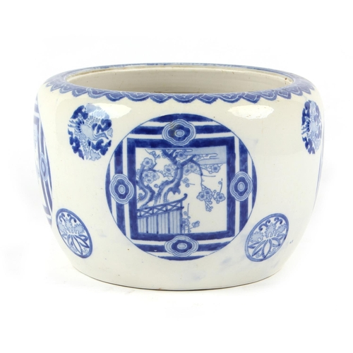 7 - Property of a lady of title - a late 19th / early 20th century Japanese Arita blue & white planter, ...