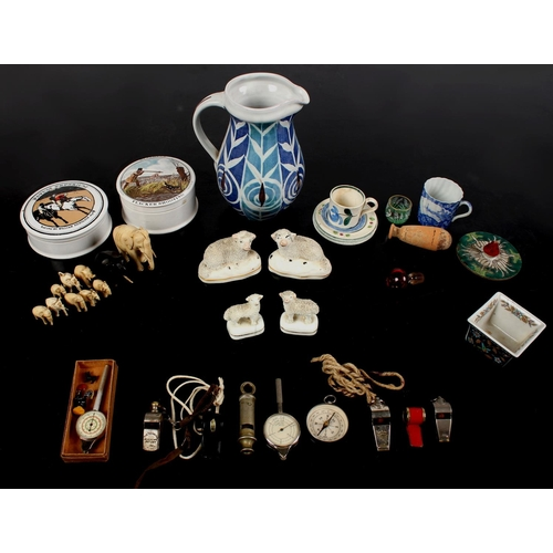 95 - Property of a gentleman - a quantity of assorted ceramics, 19th century & later, including two pairs...