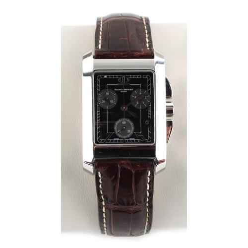 3 - Property of a gentleman - a gentleman's Baume & Mercier Hampton chronograph wristwatch, in original ...