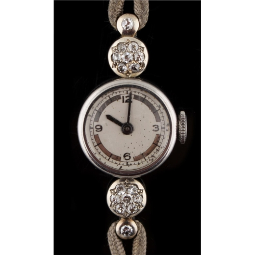 6 - Property of a lady - a lady's diamond cocktail watch, probably Vacheron & Constantin, with Merimont ...