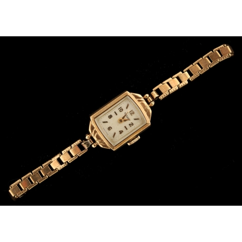 7 - Property of a deceased estate - a lady's Rotary 9ct yellow gold cased wristwatch on 9ct yellow gold ...