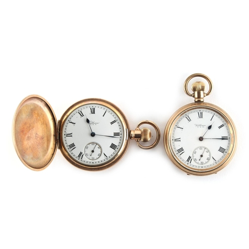 8 - Property of a lady - two Waltham gold plated pocket watches (2)....