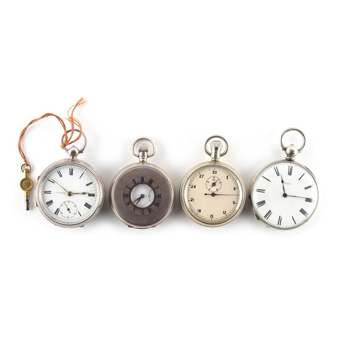 10 - Property of a lady - three pocket watches comprising a silver cased key wind pocket watch by J.B. Ya...