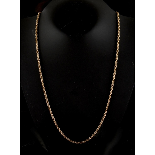 54A - Property of a deceased estate - a 9ct yellow gold chain link necklace, 25ins. (63.5cms.) long, appro...