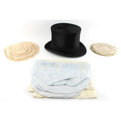 22 - Property of a gentleman - a black silk top hat, by Lincoln Bennett & Co., London, boxed; together wi...