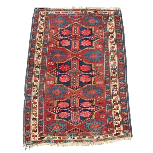 49 - Property of a deceased estate - an early 20th century Shirvan rug, 64 by 44ins. (162 by 112cms.)....