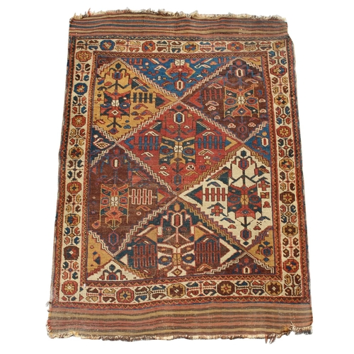 50 - Property of a deceased estate - an early 20th century Caucasian rug with kelim ends, 69 by 47ins. (1...