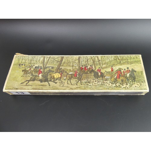 13 - Oversize vintage matchbox and contents. 29.5cm long....