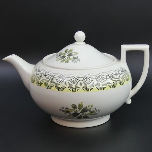 29 - Wedgwood Eric Ravilious Harvest Festival design art deco teapot. 24cm long x 15cm high....