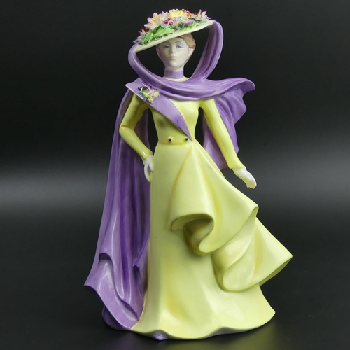 31 - Coalport The Ascot Lady, 1987 David Shilling limited edition 532 of 750 figurine. 22cm high. UK Post...