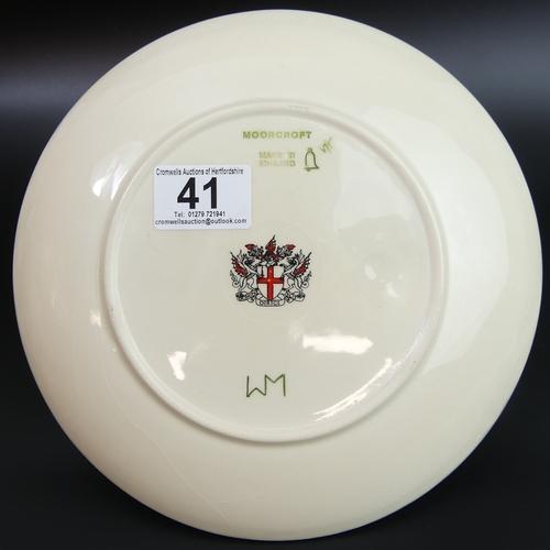 41 - Moorcroft art pottery Spitalfields plate 1991. 22cm diameter. UK Postage £12.
