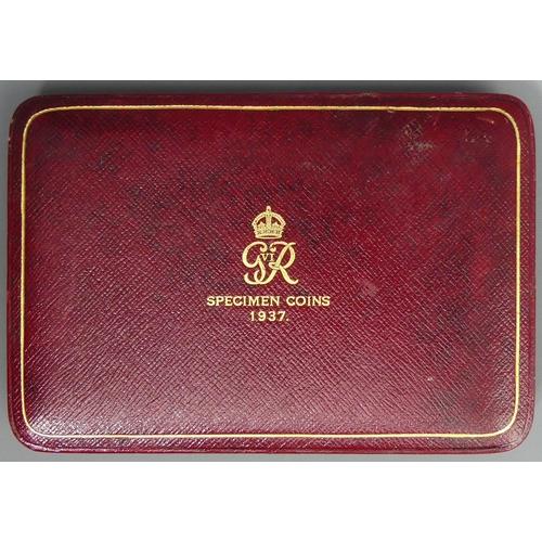 42 - 1937 George VI Royal Mint specimen coin set in the original case. UK Postage £15.