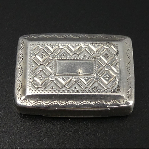 63 - George IV silver vinaigrette, Joseph Bettridge, Birmingham 1827. 30 mm wide. 11.2 Grams.  UK Postage...
