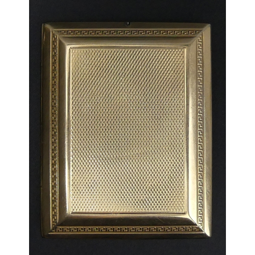 122 - Art Deco Mappin and Webb 9 carat gold matchbox holder, London 1927. 52.4 grams. 64 mm x 50 mm x 8 mm...