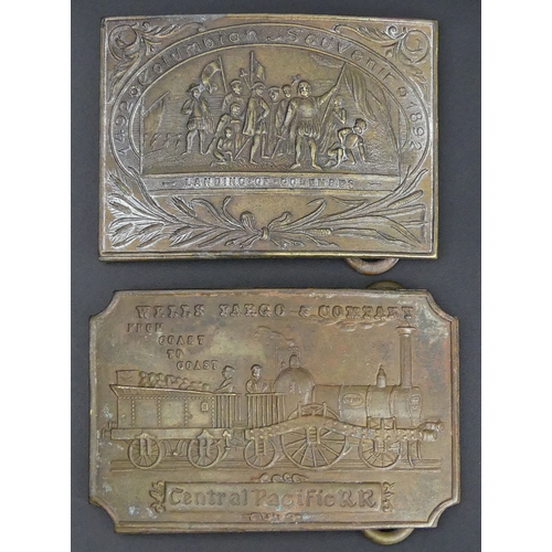 157 - Tiffany & co pair of belt buckles. 87 x 62 mm. UK Postage £15.