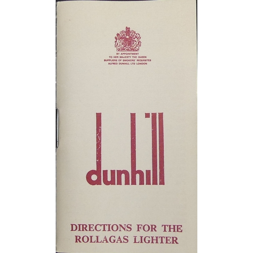 159 - Dunhill gold and lacquer finish butane lighter in the original box.  UK Postage £12.