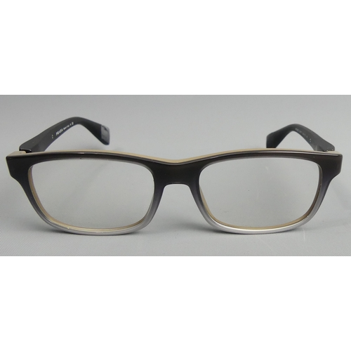 162 - A pair of Prada Italian designer framed glasses with case and box. UK Postage £15.