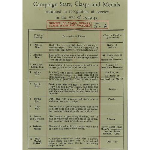 172 - World War II campaign medals and a Territorial Efficient Service medal. 873552 SJT T.Plato R.A. UK P...