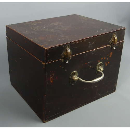 176 - Vintage Lachenal of London 21 button squeeze box and case. 19 x 17 cm. UK Postage £20.