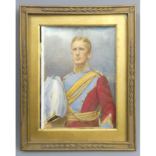 198 - A hand painted silver print of Colonel Doulton White by Turner and Drinkwater, Regent House Hull, c....