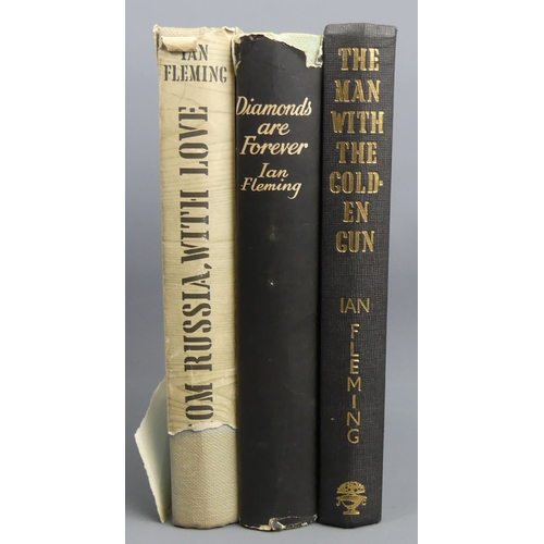 202 - Ian Fleming 'The Man With The Golden Gun' 1965 1st edition published by Richard Clay, 'Diamonds Are ...