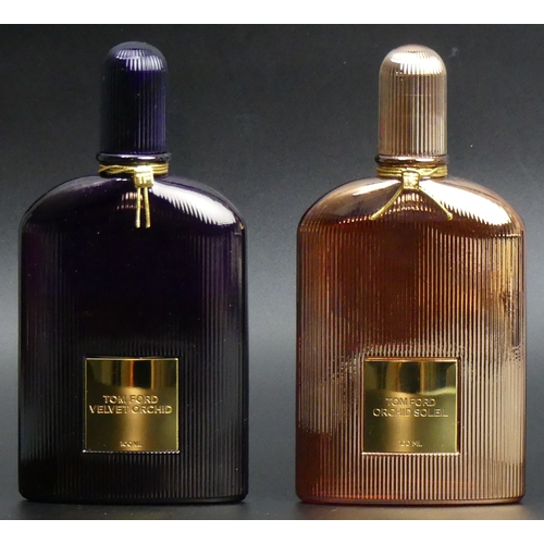 210 - Two bottles of Tom Ford Eau de Parfum Velvet Orchid and Orchid Soleil, both with good levels. UK Pos...
