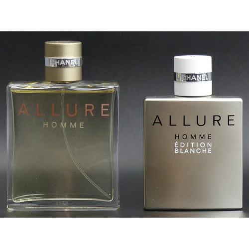 219 - Chanel 150ml Allure Eau de Toilette and Chanel 100ml Allure Edition Blanche. Good levels. UK Postage...