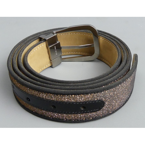 241 - Moreschi Italian leather Russel & Bromley Nite Drive new belt. 120 cm. UK Postage £15.