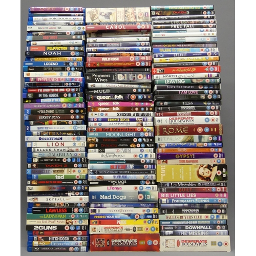 293 - 46 Blue ray DVD's including Rocket Man and 81 DVD's including box sets. UK Postage £20.