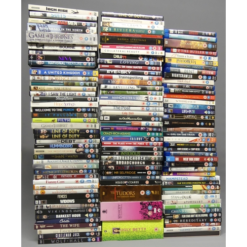 294 - 28 Blue ray DVD's including Bridge of Spies and 94 DVD's including boxed sets. UK Postage £20.