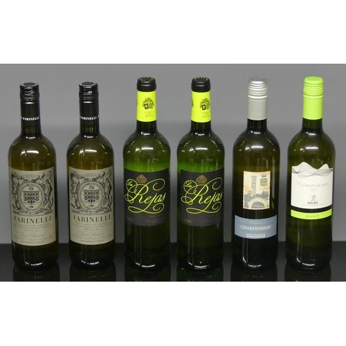 311 - Six Italian and Spanish bottles of white wine.