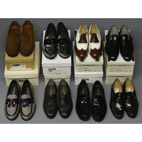 317 - Eight pairs of new and boxed Russell and Bromley men's shoes. Size 7 1/2 and 8. UK Postage £30.