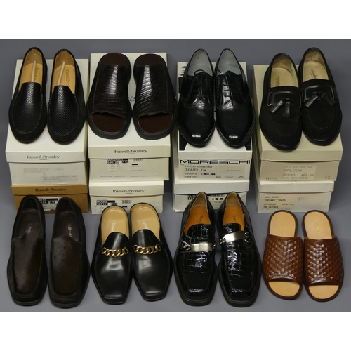 319 - Eight pairs of new and boxed Russell and Bromley men's shoes. Size 7 1/2 and 8. UK Postage £30.