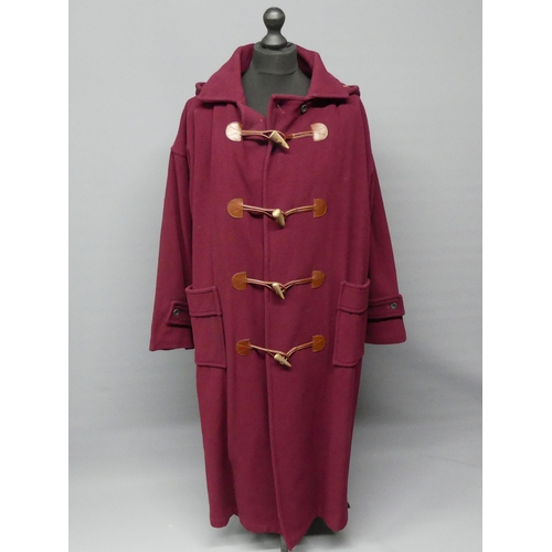 326 - Mulberry wool and cashmere full length duffel coat. Size XL. UK Postage £20.