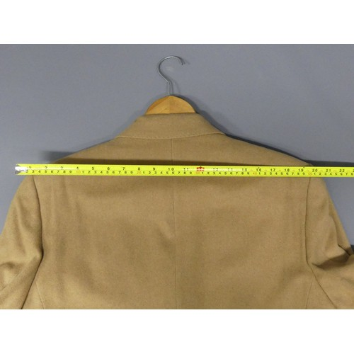 322 - Christian Dior silk lined wool camel colour coat. Size XL. UK Postage £20.